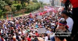 25.000 հայ ցուցարարներ՝ թրքական դեսպանատան առջեւ
