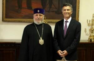 Կաթողիկոսը ընդունել է Բուենոս Այրեսի քաղաքապետին