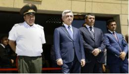 Ոստիկանության զորքերի նոր վարչական շենքի հանդիսավոր բացումը Դավթաշենում