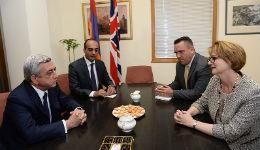 Սերժ Սարգսյանն այցելել է Հայաստանում Միացյալ Թագավորության դեսպանատուն