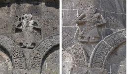 Երկու Առաքյալ — Կարսի Առաքելոց եկեղեցու գմբեթի թմբուկի քանդակներից